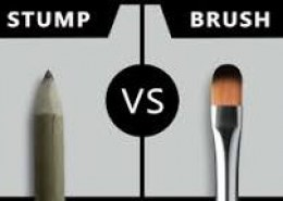 """Which one is better for blending : """"dry brush"""" or """"paper stump"""" ?"""